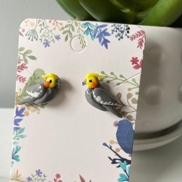 Cockatiel Stud Earrings